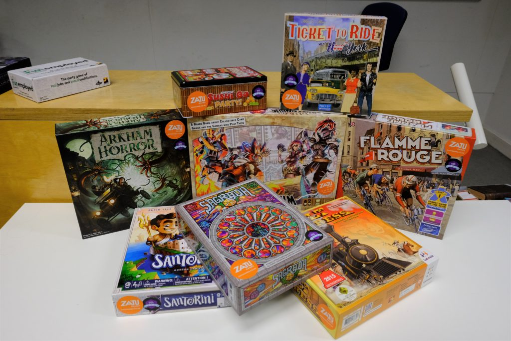 New board games acquired – thanks to Zatu Games! | UCL
